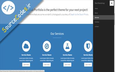 دانلود قالب سایت bootstrap با منوی سایدبار در HTML