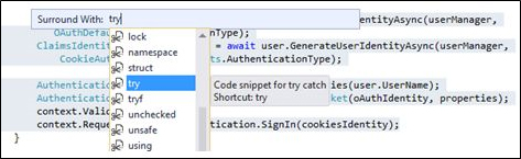 Combined keys in Visual Studio 1